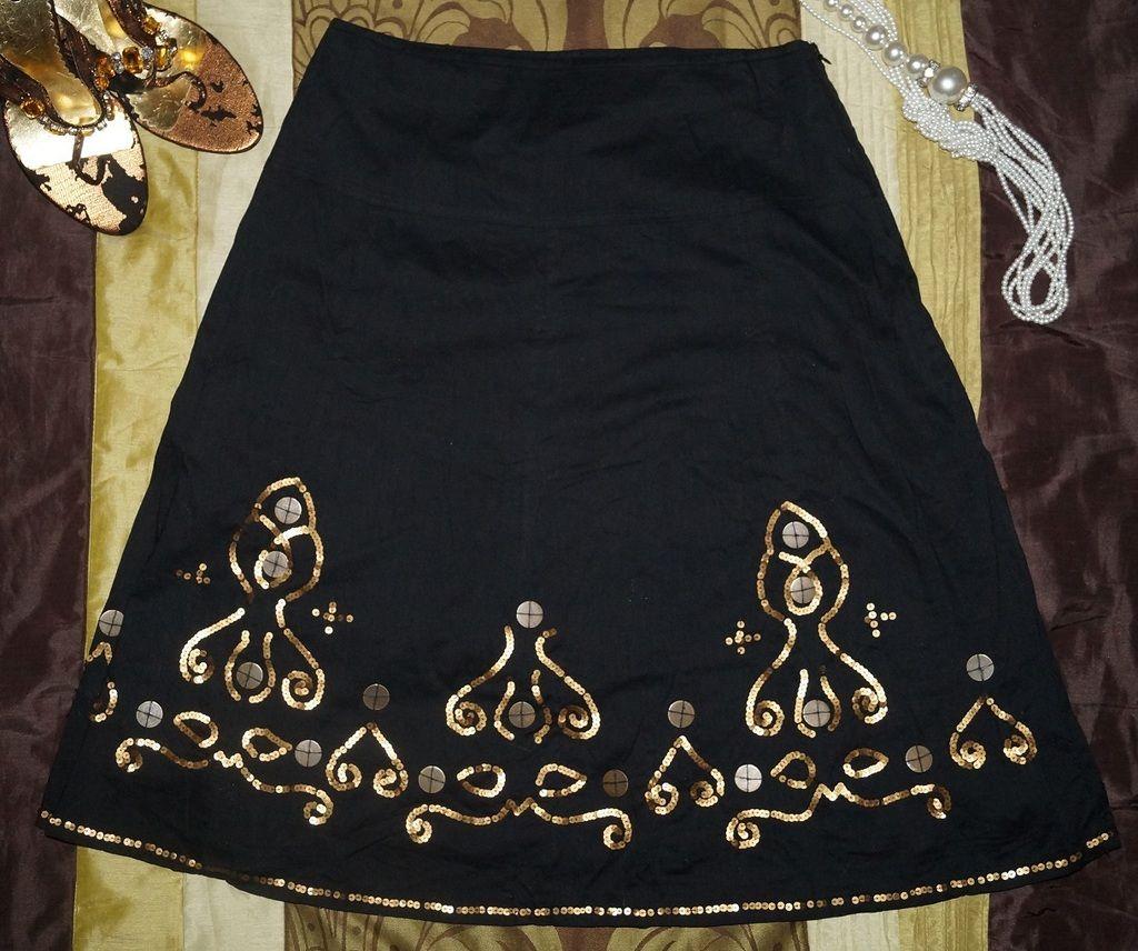 Elegancka Wizytowa Spodnica Cekiny Wiosna 38 40 6119669465 Oficjalne Archiwum Allegro Fashion Skirts