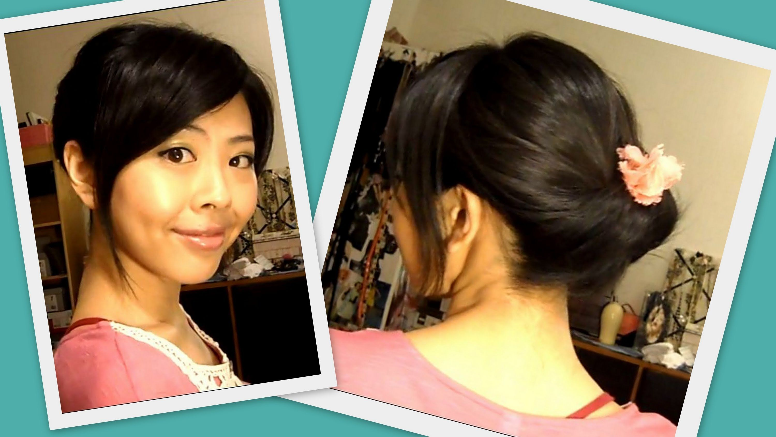 Elegant updo in minute works on both long u short hair beauty