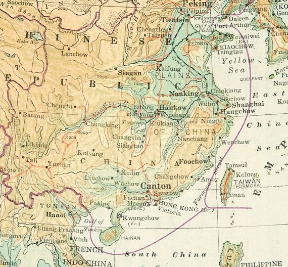 1930s china map print japan map tibet mongolia map far east asia 1930s china map print japan map tibet mongolia by eleanorsvintage publicscrutiny Choice Image