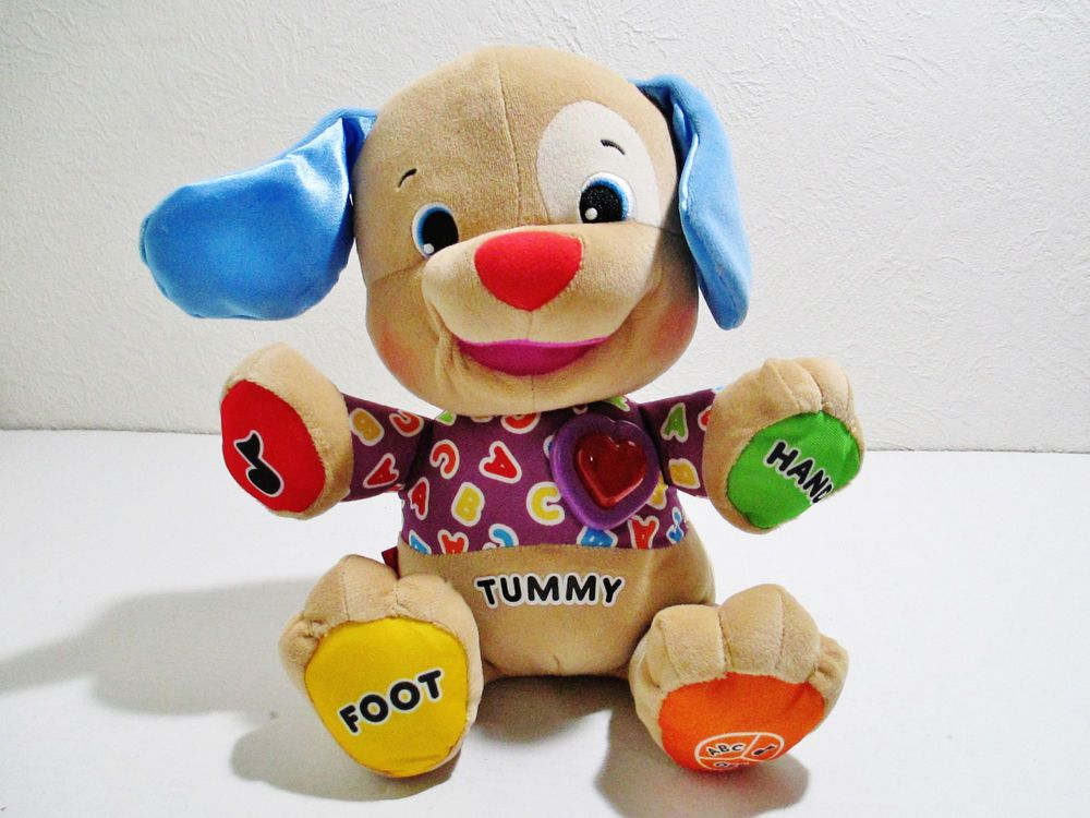 Fisher Price Laugh Learn Plush Puppy Dog Light Up Heart 2010