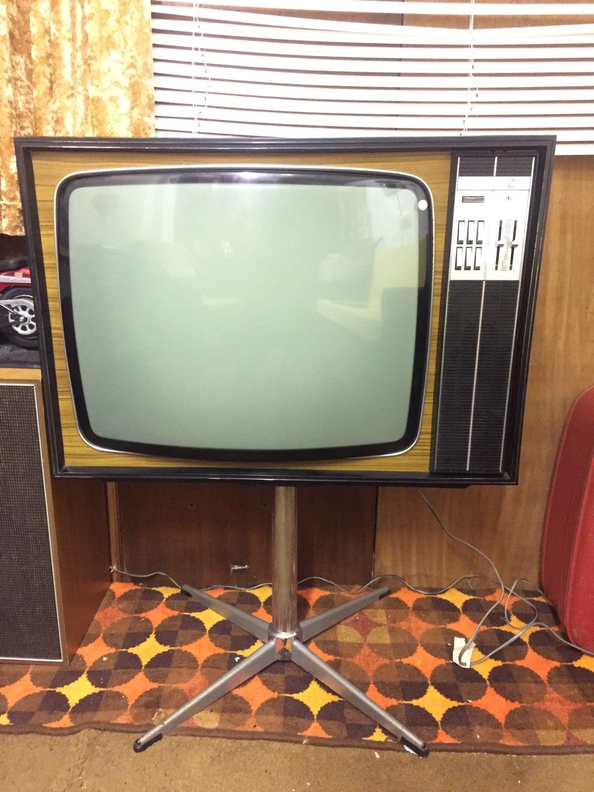 Vintage 1970s Ultra Black And White Television 1 Vintage