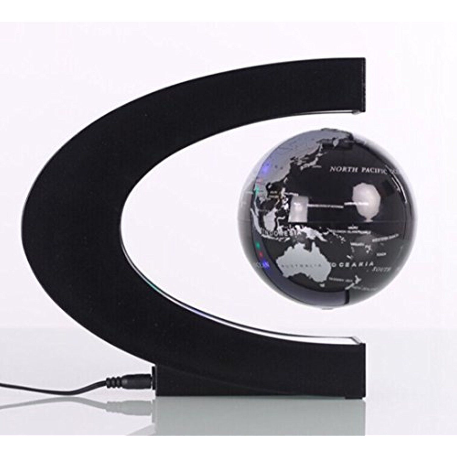 Delightful Creative C Shaped Magnetic Levitation Globe Office Desk Ornaments Arts And  Crafts Anti Gravity Globe Crafts With LED Lights BS