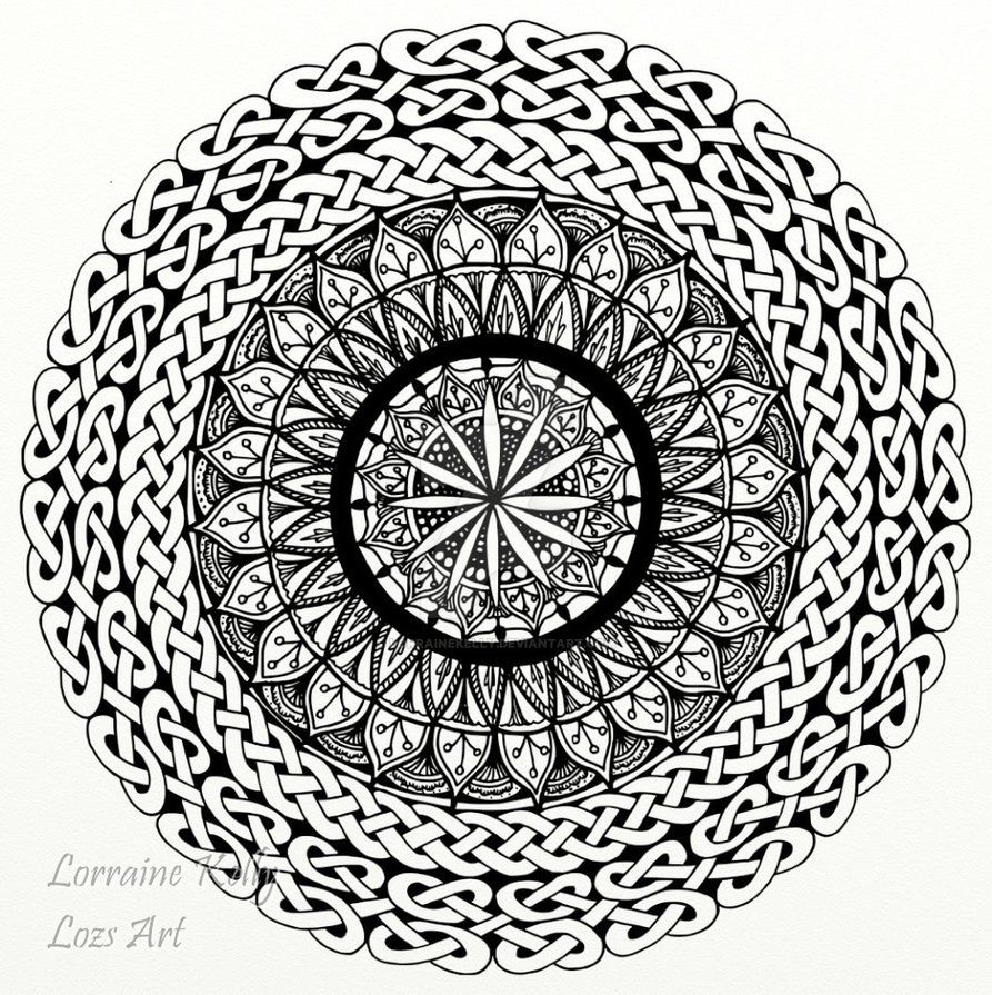 Celtic Knot Mandala Adult Colouring Page By Lorrainekelly On