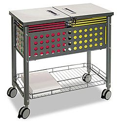 Key Lock Sliding Top File Cart | Overstock.com Shopping   Top Rated Portable  File