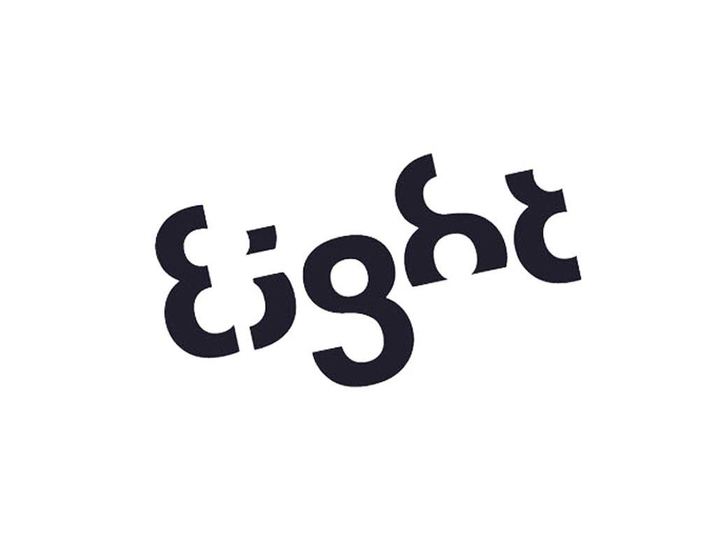 Eight logo   Creative lettering, Logos, Lettering