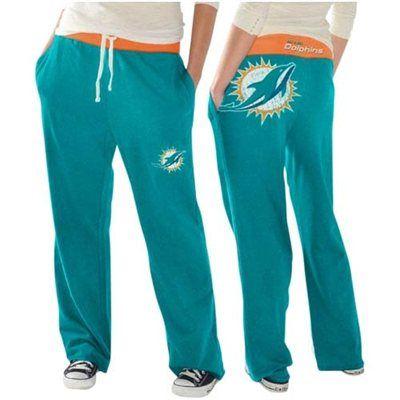 sale retailer 46534 5babe Miami Dolphins Ladies Recruit Fleece Pants – Aqua   Go Fins ...