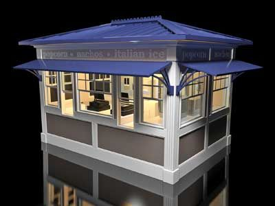 Ikonic design and manufacturing manufacturer of rmus for Garden kiosk designs