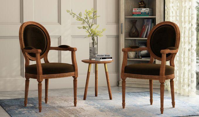Buy Zen Dining Chair (Chocolate Brown) Online in India