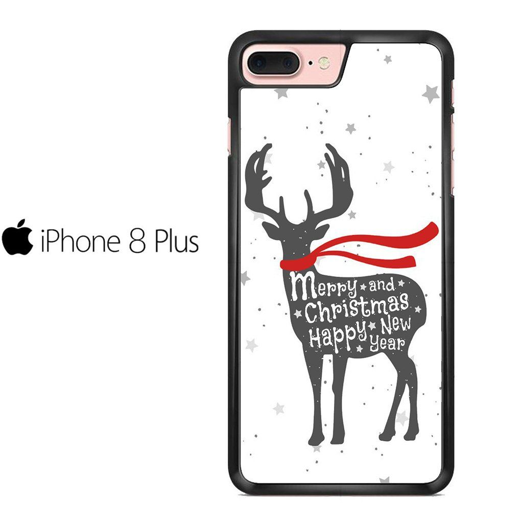 Merry Christmas Deer Posters For IPHONE 8 PLUS Case