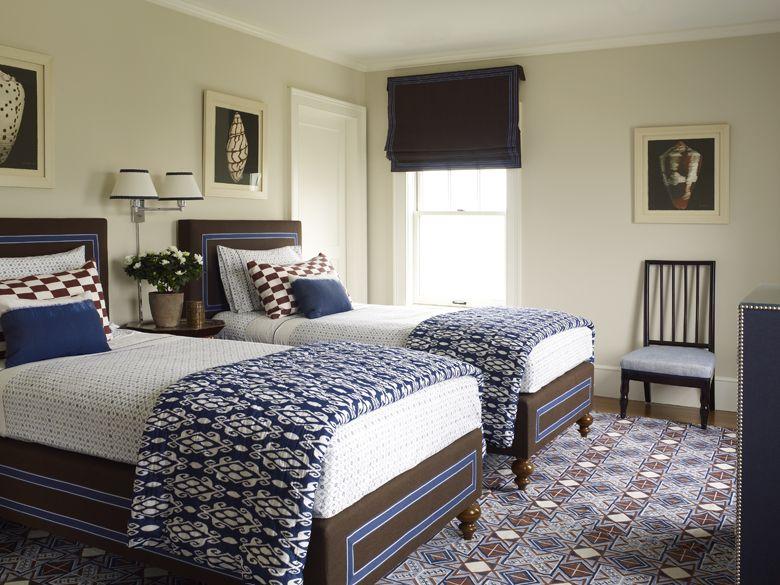 exciting twin boys bedroom ideas | Alex Papachristidis - beach bohemian twin guest room | Kid ...