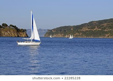 Sailboats #american, #bay, #flag, #blue, #deck, #dinghy, #francisco, #headlands, #islands, #jib, #lazing, #main, #mainsail, #ocean, #reefed, #reflection, #sailing, #san, #shadow, #sunset, #water, #yacht