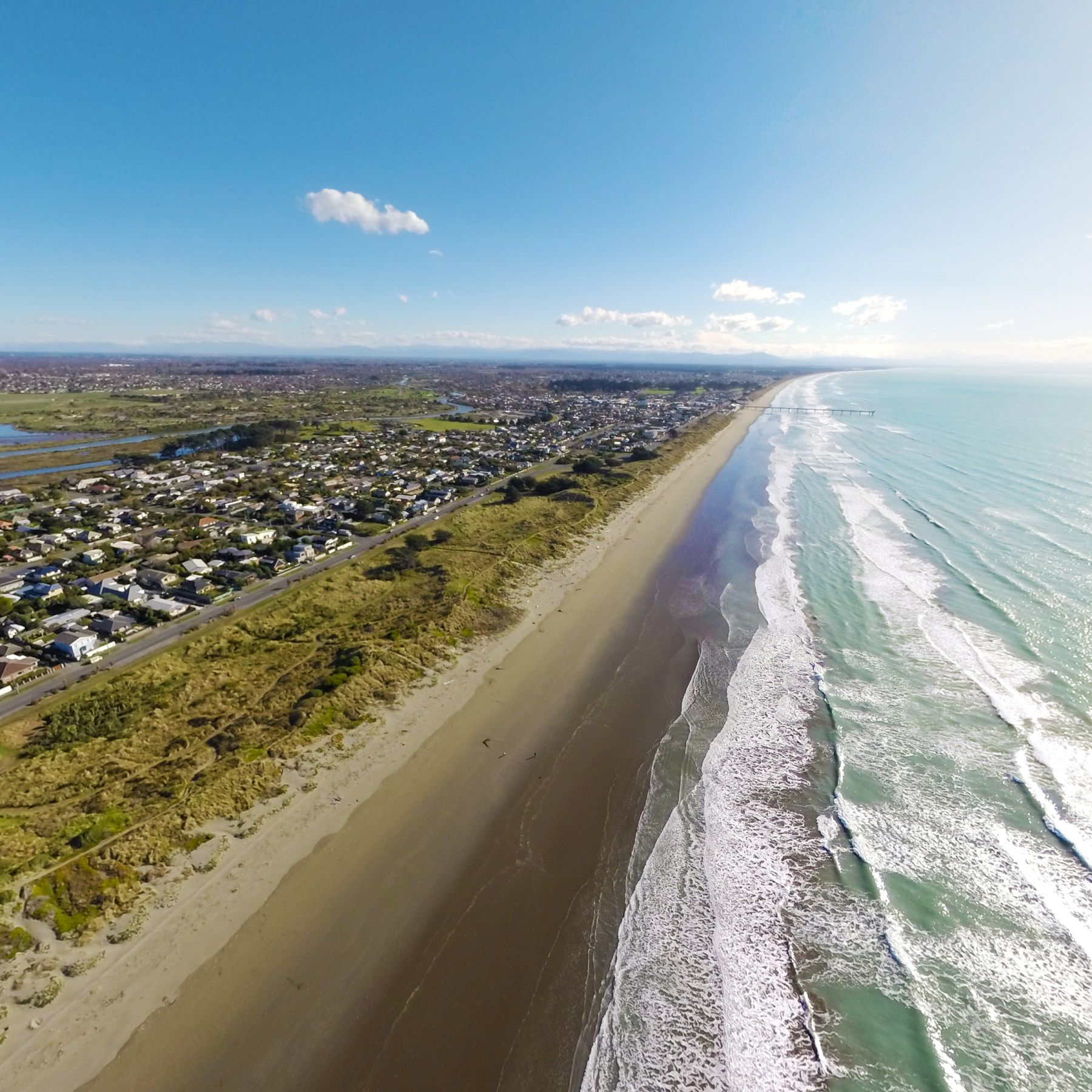Aerial Panoramas A New Way To View An Emerging City New Brighton Beach Christchurch New Zealand Christchurch
