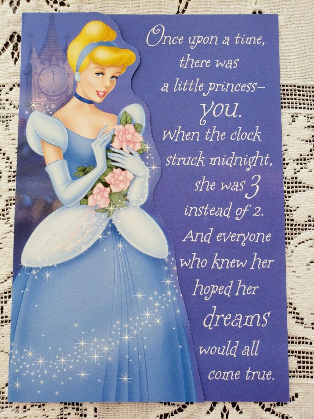 Hallmark Cinderella Happy 3rd Birthday Greeting Card Disney Ebay Birthday Greetings Birthday Greeting Cards Happy Birthday Greeting Card