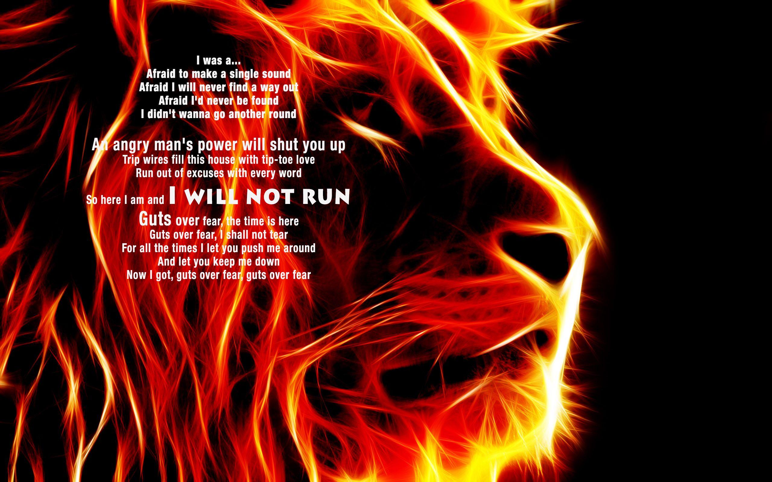 Guts Over Fear Eminem Sia Strength Mit Bildern Think