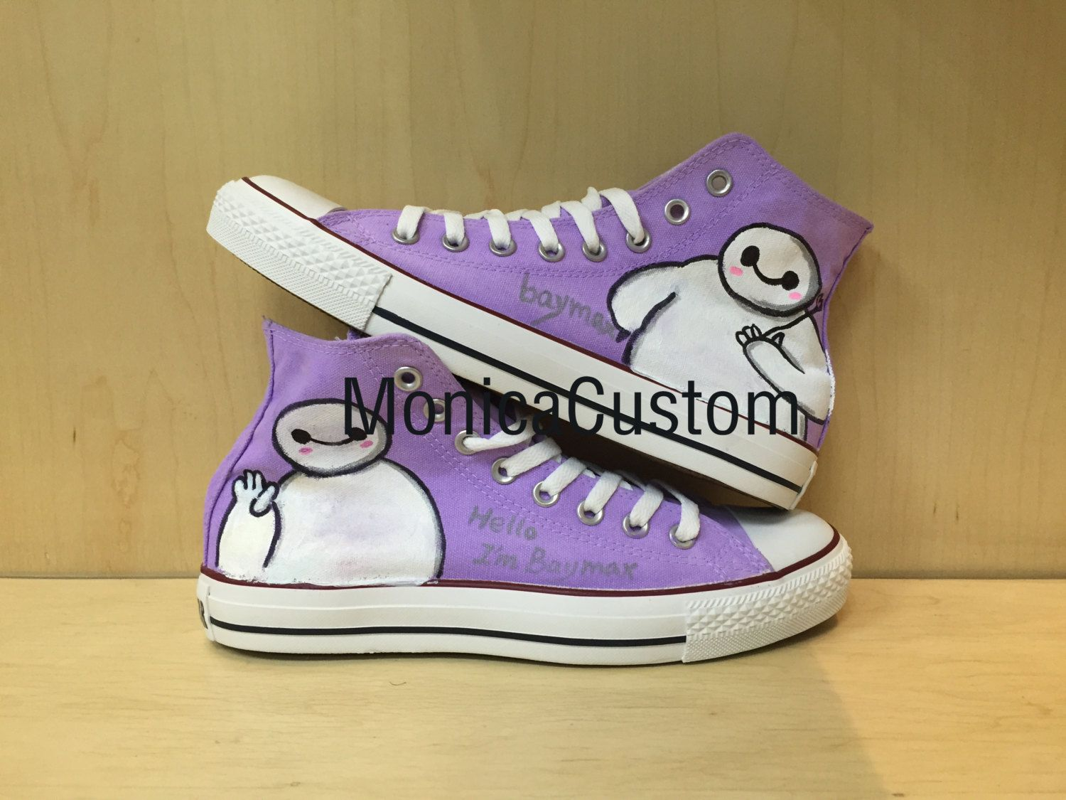 c9d49cce9b Baymax Converse shoes Custom Converse《Big Hero 6》Converse Sneakers Hand- Painted On