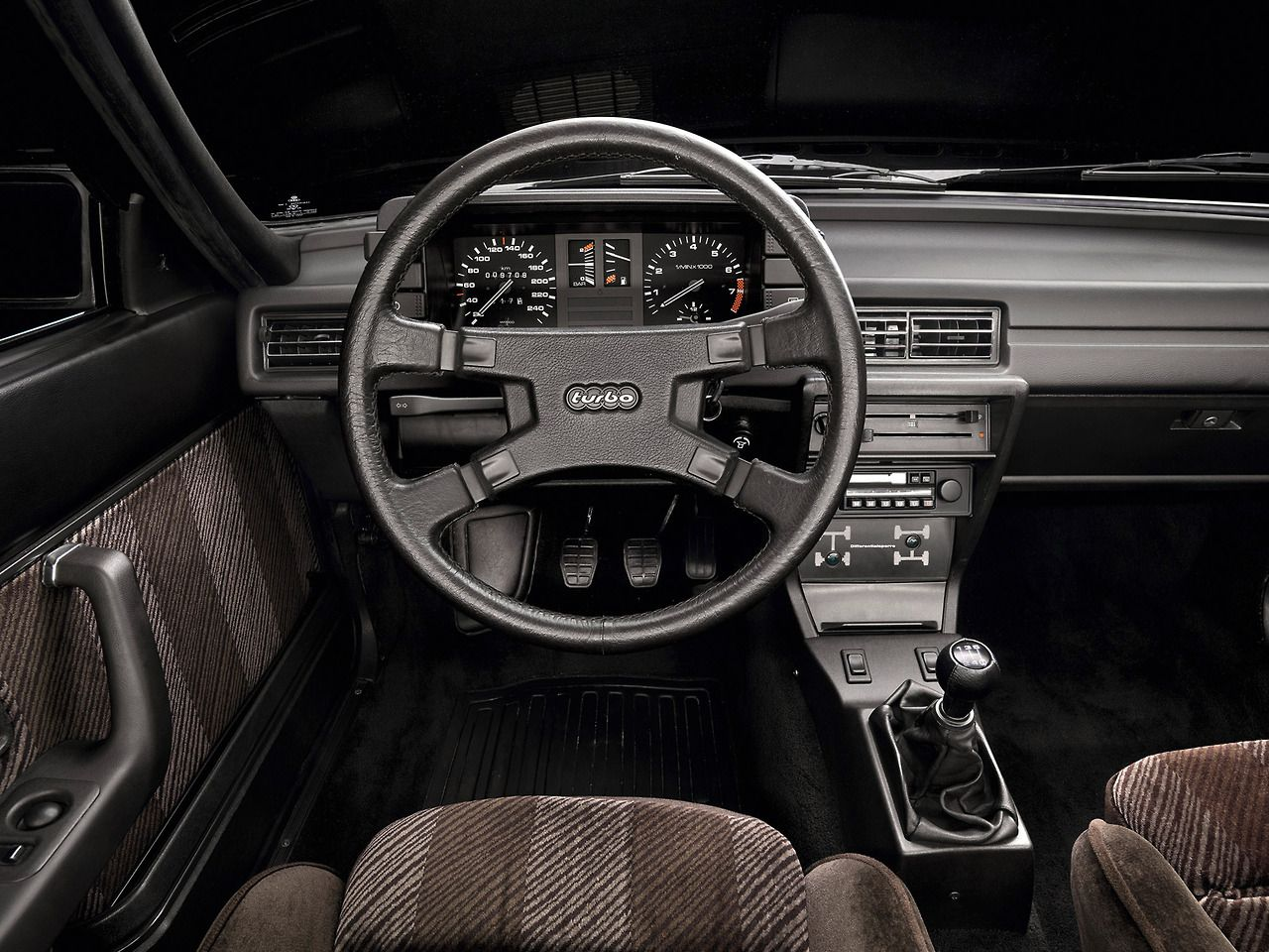 Audi Quattro 81 Interior With Analogue Clocks And The Cable