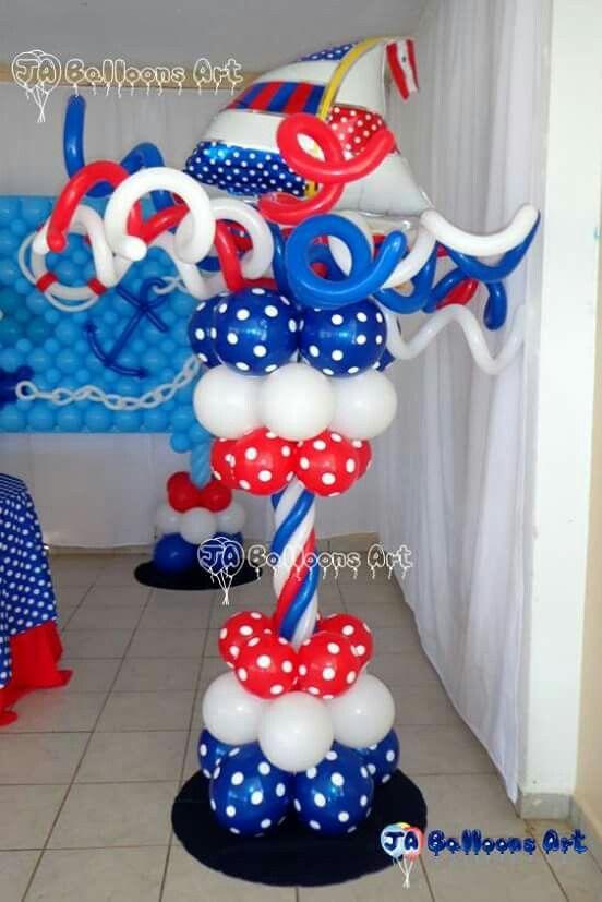 Nautico Globos Cumpleaños Marinero Decoración De Fiesta