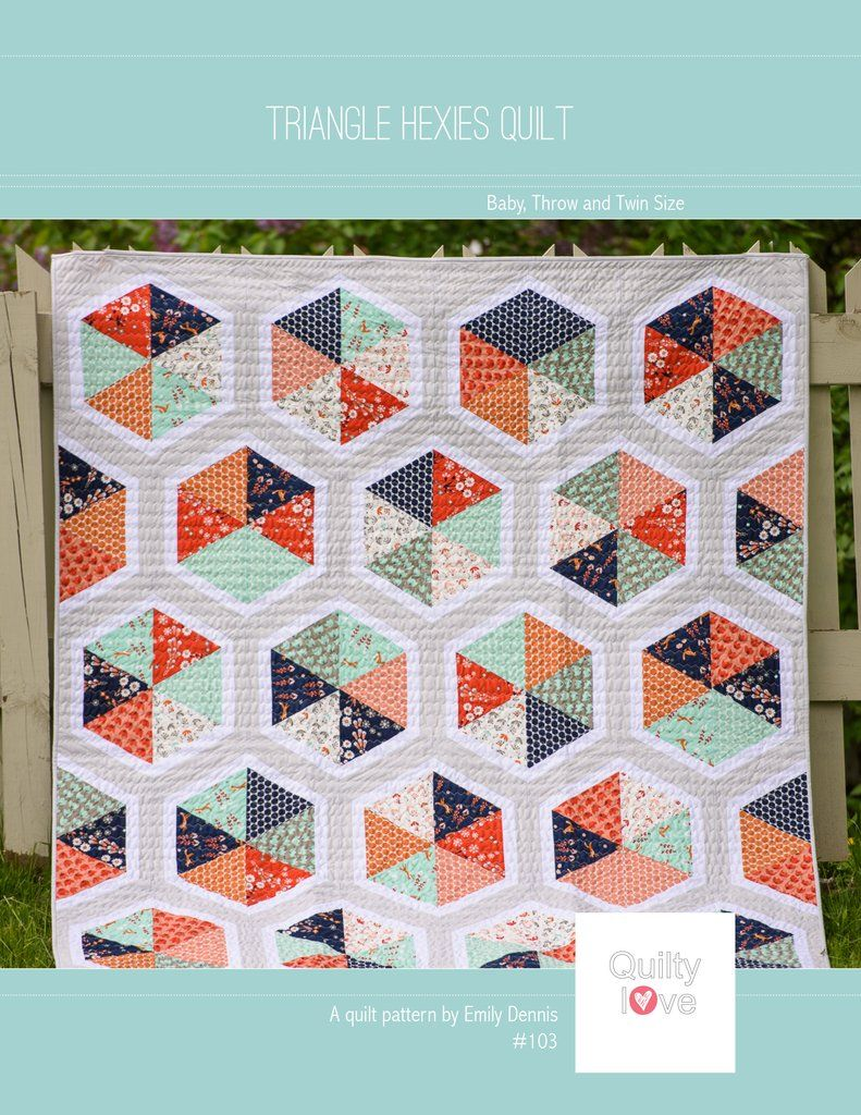 Moderne Quilts Triangle Hexies Paper Quilt Pattern Quilts Quilting