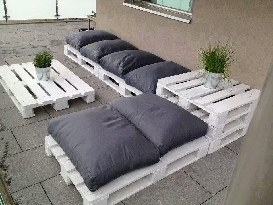 loungemöbel aus europaletten Palleten-Möbel Pinterest