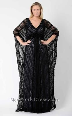 674f51493a1 Create a dramatic look in this Beside Couture PS518 by Gemmy Plus Size  evening gown. This dress has a V-neckline and batwing sleeves. Lace overlay  works ...