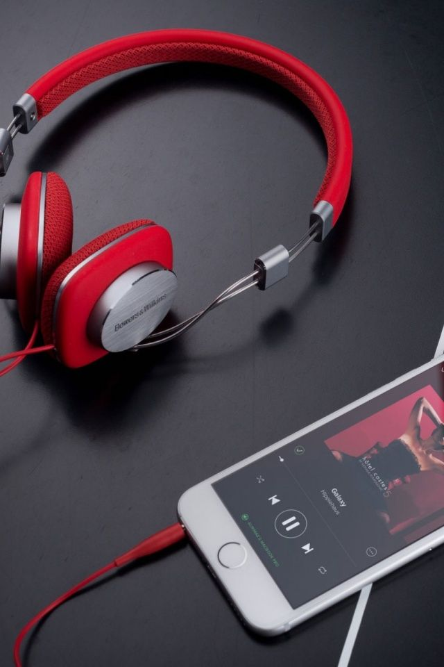 Red Bowers And Wilkins P3 Headphones Mobile Wallpaper Iphone Wallpaper Music Girl With Headphones Headphones Art