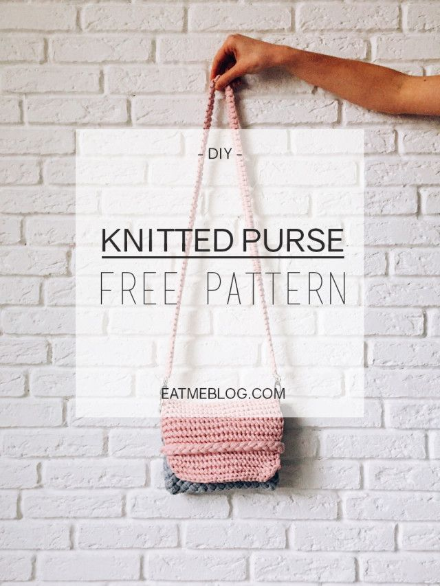 Knitted Purse Free Pattern Knit Bags Totes Pinterest Free