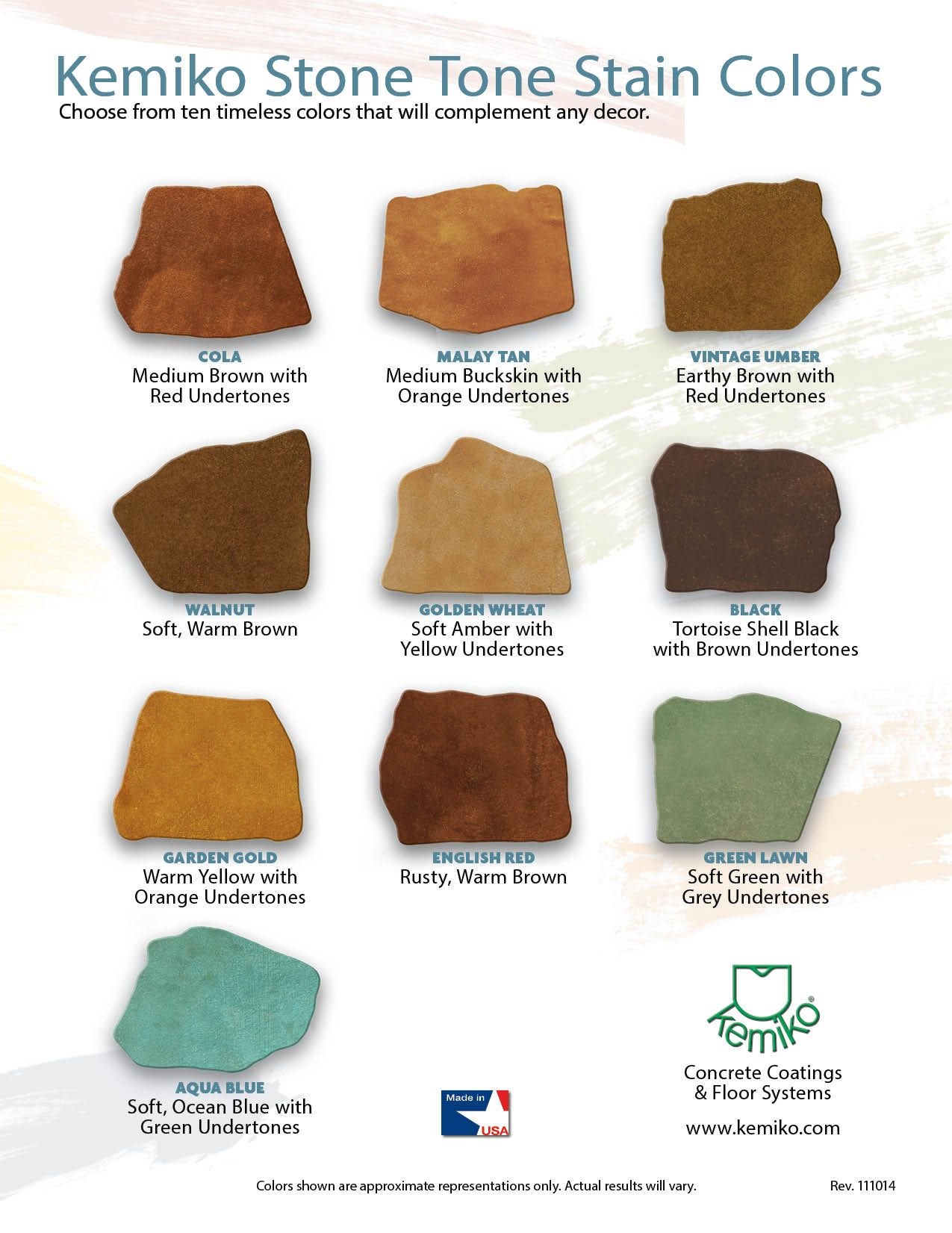Stone Tone Stain Colors: either Golden Wheat or Vintage Umber