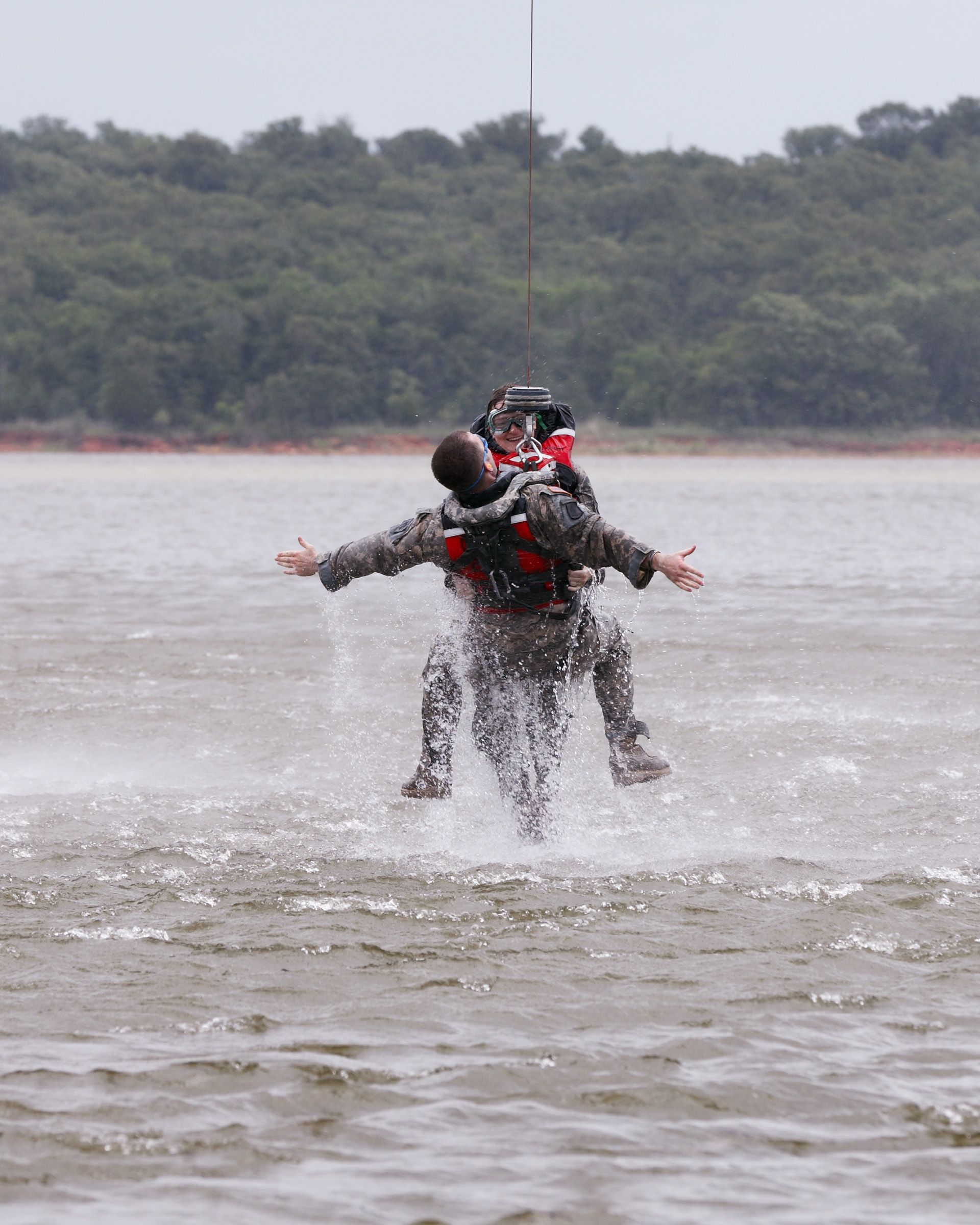 Nebraska Army National Guard members spray water during an ...  |National Guard Water Rescue