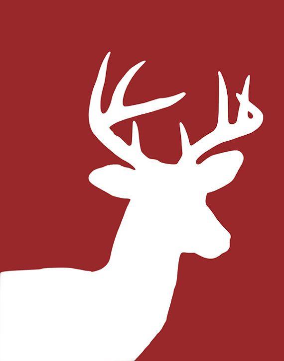 Deer Print Deer Nursery Art Deer Art Deer Silhouette