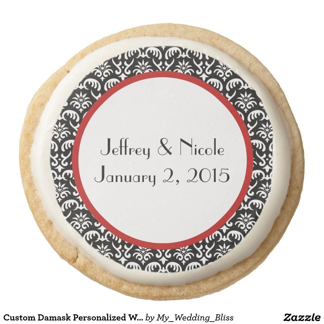 Custom Damask Personalized Wedding Cookies   Wedding cookies ...