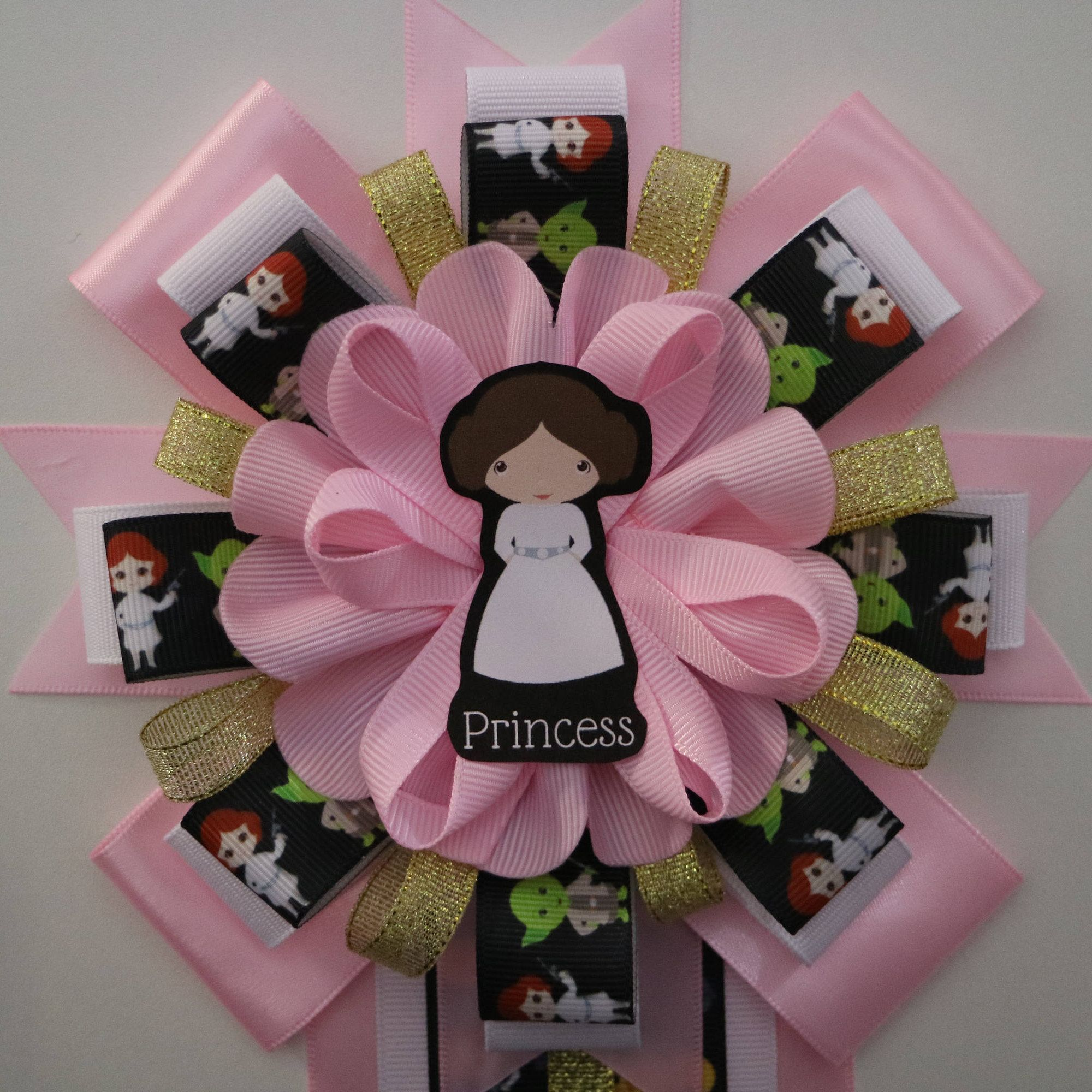 Princess Leia Pink Star Wars Baby Shower Mommy to Be