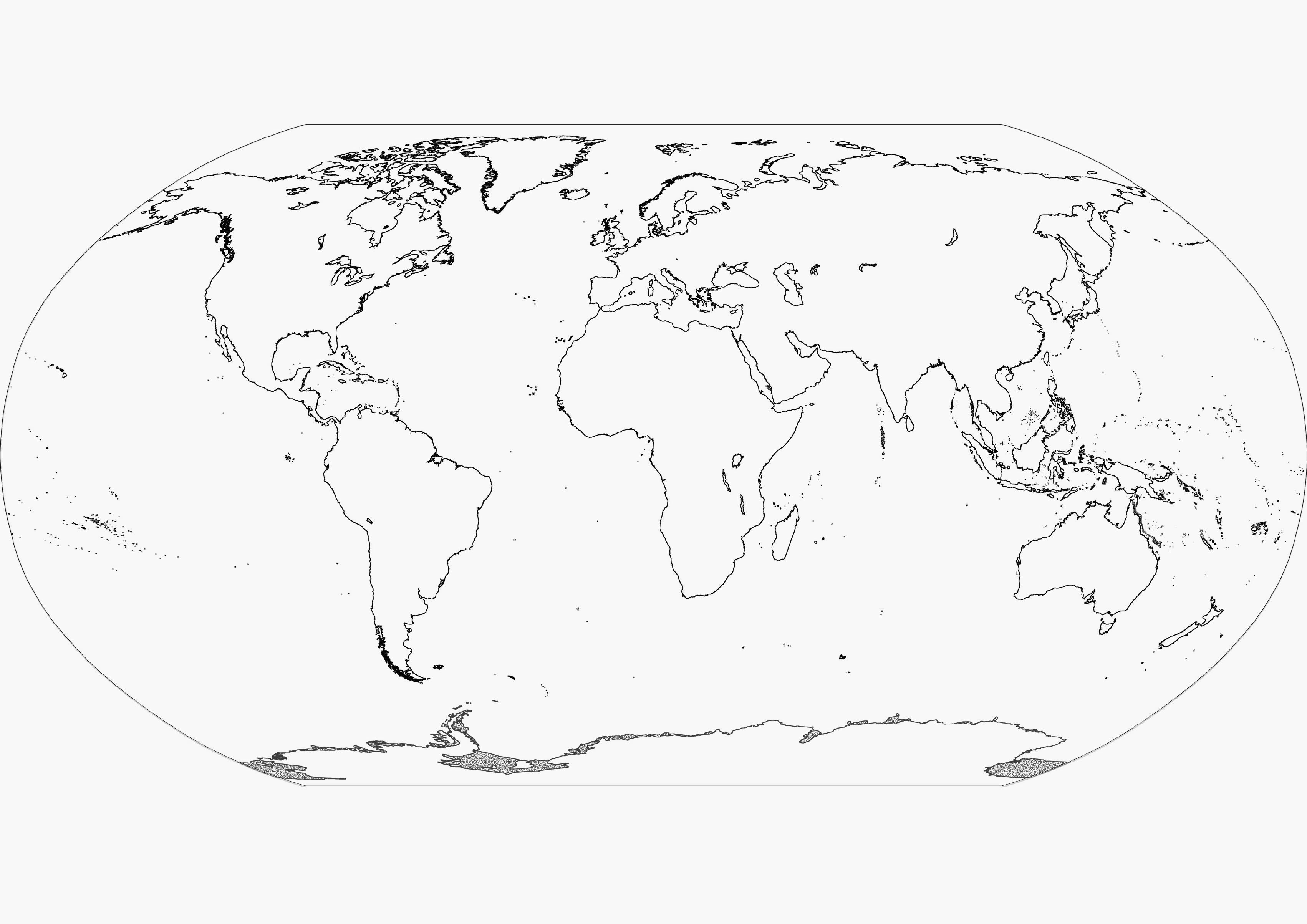 Printable Blank World Map Coloring Page Coloring Pages
