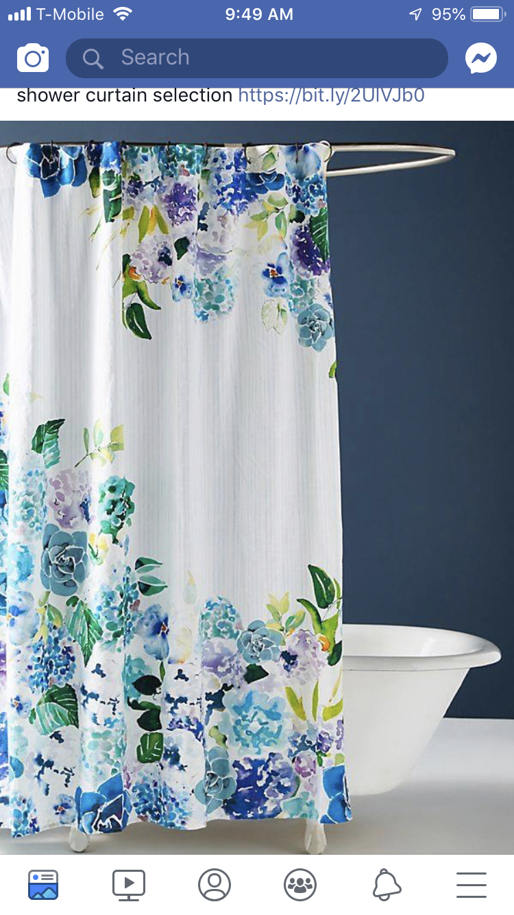 Pin By Juliana Serrano On Home Floral Shower Curtains Shower