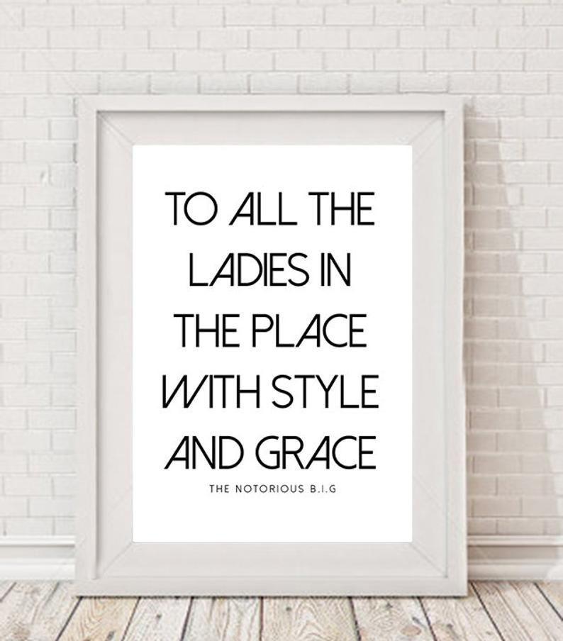 Affiche de paroles de typographie A4, imprimable, décor