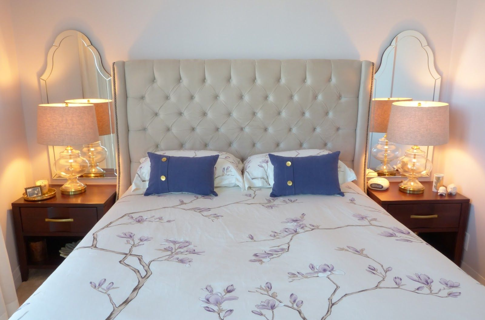 Using Mirrors Above Bedside Tables Simple Bedroom Home Decor