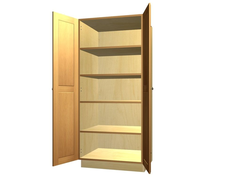 Wonderful 2 Door Tall Pantry Cabinet