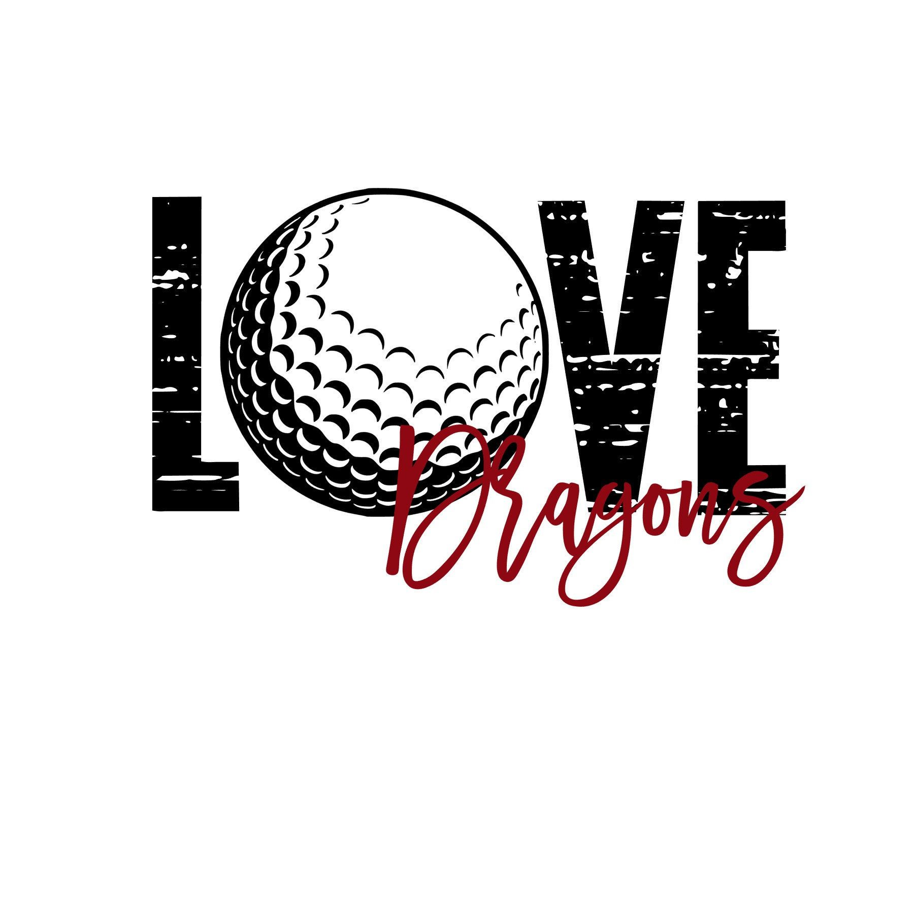 Download Love Dragons Distressed Golf SVG   Etsy   Svg, Etsy, This ...