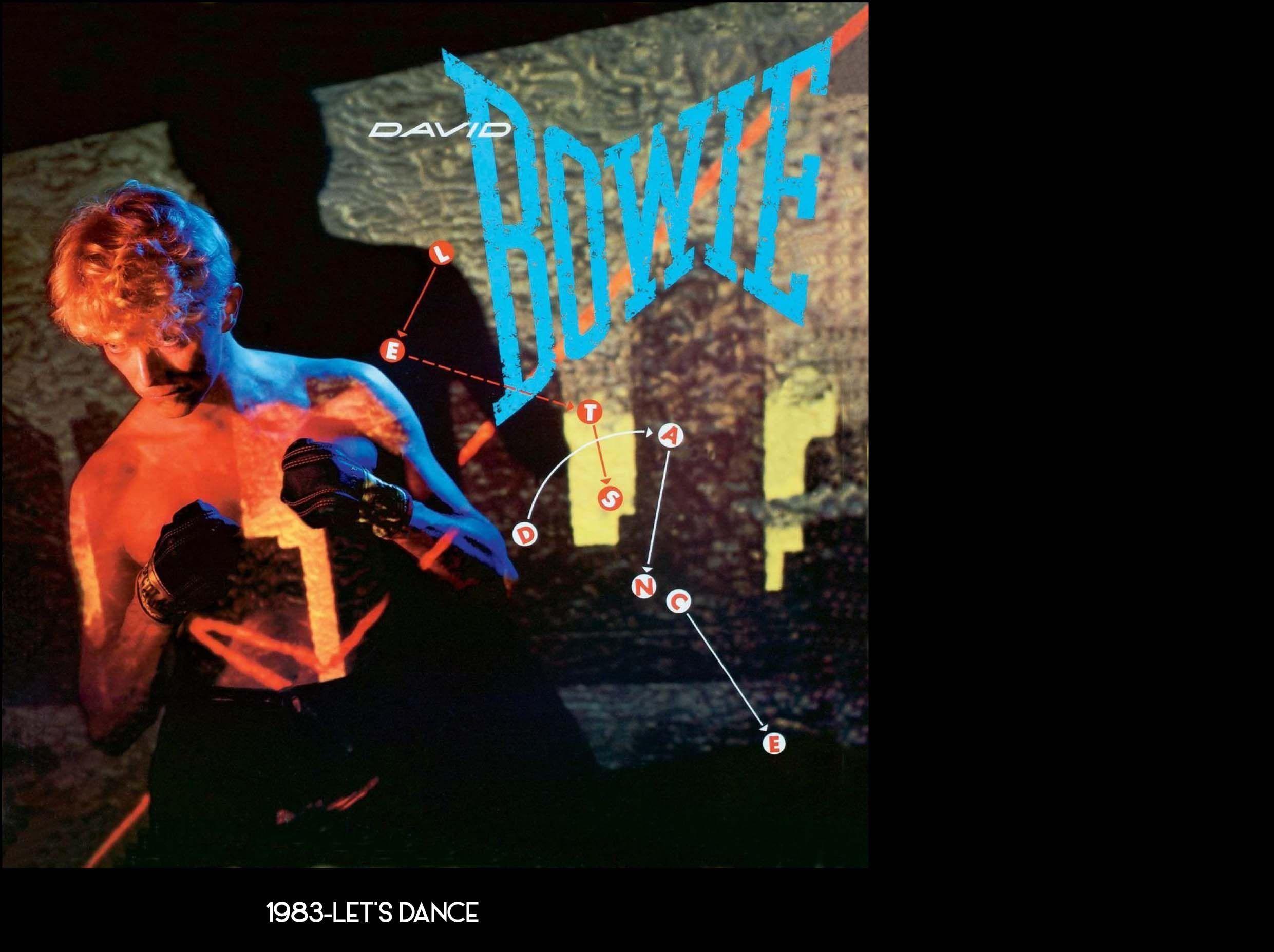 DAVID BOWIE 1983 LET'S DANCE Immagini, Ricordi
