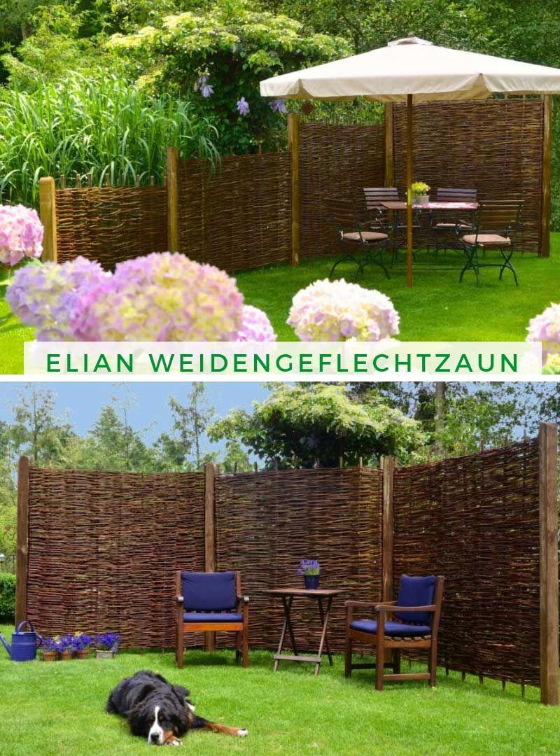 Alpholz Elian Weidengeflechtzaun Garten Und Outdoor Gartengestaltung Sichtschutz Garten