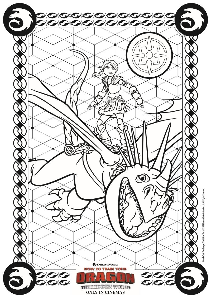 HTTYD3 Coloring Page Free Movie Printable How train