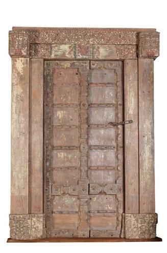 Altholztür aus Indien aus Massivholz - Vintage Möbel bei Möbelhaus ...