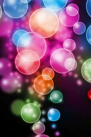 Download Free Bokeh Bubbles Iphone Wallpaper Mobile Wallpaper