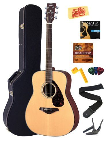 Amazon Com Yamaha Fg700s Acoustic Guitar Bundle With Hard Case Strap Strings Stringwinder Picks Capo And Instructional Dvd Guitar Acoustic Guitar Capos