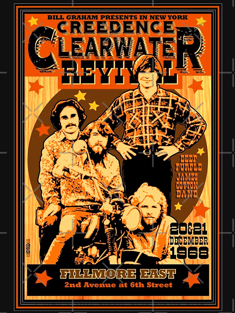 Vintage Retro Ccr Concert Poster T Shirt By Fontastic Redbubble Rock Band Posters Music Concert Posters Concert Posters