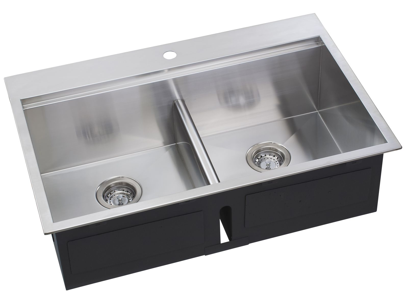 Low Divider Double Bowl Ledge Sink Ledge Sink Sink Stainless