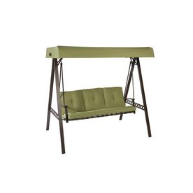 Garden treasures 3 seat steel casual cushion swing lowe 39 s - Garden treasures replacement cushions ...