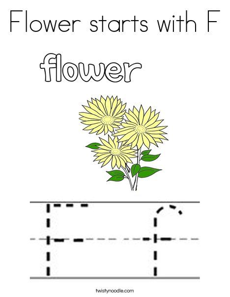 Flower starts with f coloring page twisty noodle letter coloring flower starts with f coloring page fandeluxe Image collections