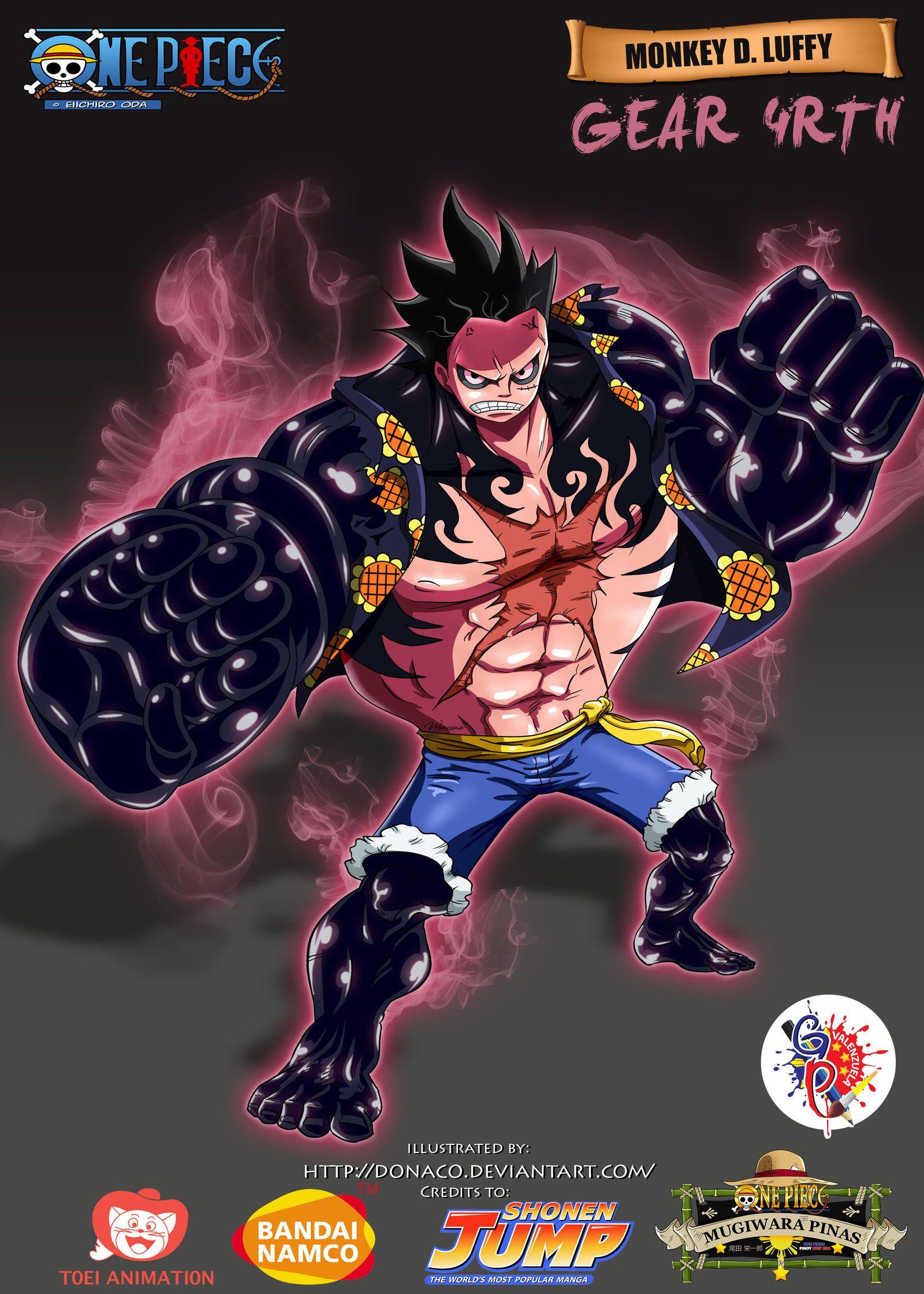 Luffy Gear 4 Tattoo: Monkey D. Luffy Gear 4rth By Donaco.deviantart.com On