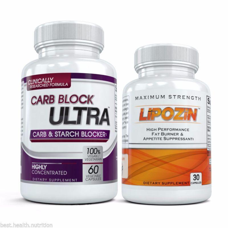 Best Fat Burning Diet Pills Combo Lipozin Carb Block Ultra