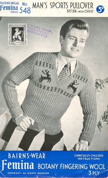 Vintage Reindeer Christmas Jumper For Men Vintage Knit Pinterest